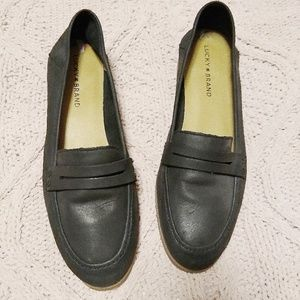 Lucky Brand Women's Black Leather Loafers 10